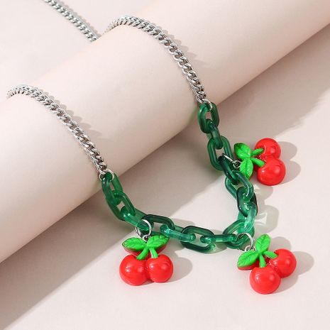 Korean wild fashion alloy trendy fruit necklace for women wholesale NHPS245978's discount tags