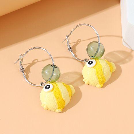 Korean wild sweet fashion small goldfish alloy earrings NHPS245979's discount tags