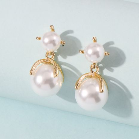 Fashion new pearl simple exquisite wild sweet earrings for women wholesale NHMD245987's discount tags