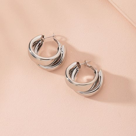 Fashion new simple circle alloy Earrings for women hot-saling wholesale NHAI246127's discount tags