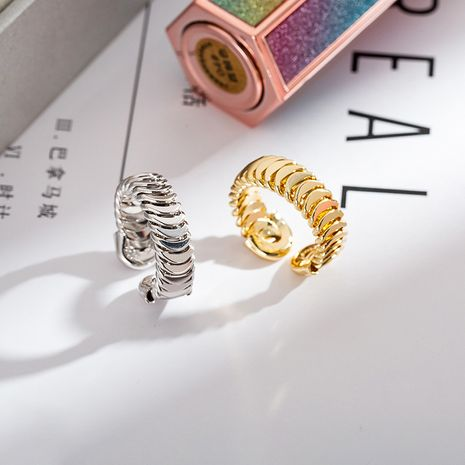 creative open chain ring minimalist fashion all-match ring Wholesale nihaojewelry NHIM246137's discount tags