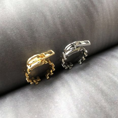 simple fashion zipper ring Wholesale nihaojewelry NHIM246145's discount tags