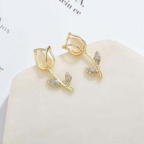 Korea 925 silver needle full diamond rose petal girls daisy flower gentle earrings NHBQ246174's discount tags