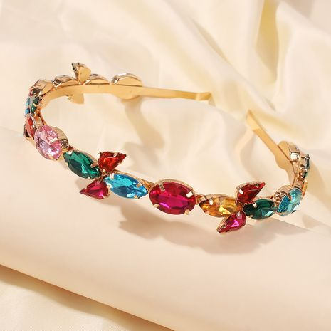 Baroque alloy rhinestone new hot style hair accessories ladies headband wholesale nihaojewelry NHMD246187's discount tags