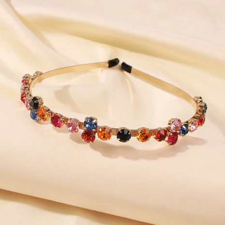 bright hair band with diamonds retro hairpin out headband wholesale NHMD246196's discount tags