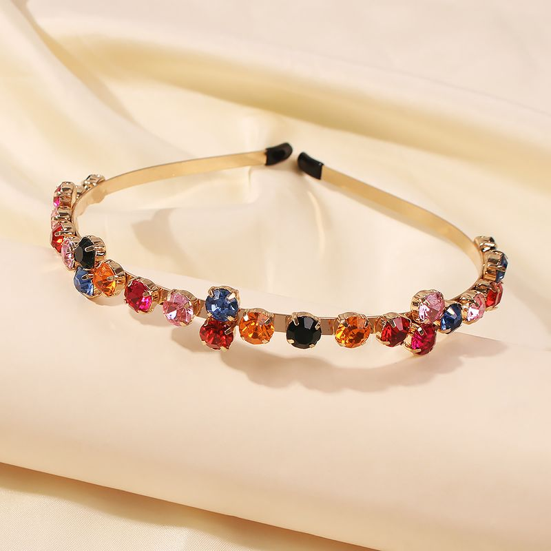 bright hair band with diamonds retro hairpin out headband wholesale NHMD246196