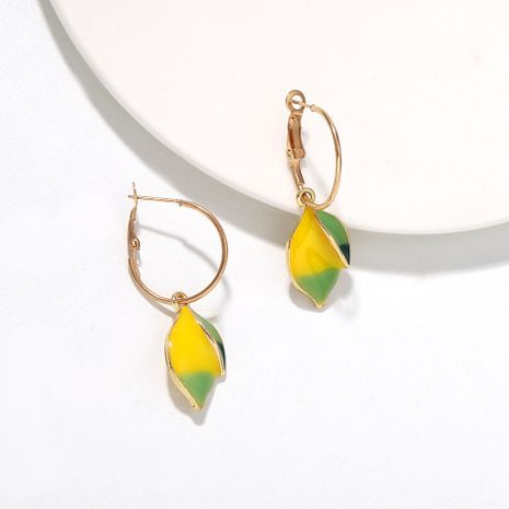 Korean summer new fresh and versatile fruit lemon cute earrings wholesale nihaojewelry NHJQ246201's discount tags