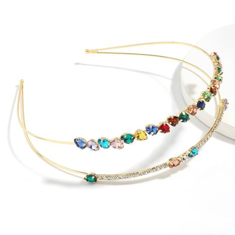 flashing color drill creative alloy diamond-studded rhinestone double-layer headband wholesale nihaojewelry NHJE246217's discount tags