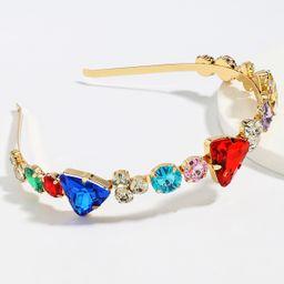 Taladro de color súper deslumbrante aleación de moda diadema de taladro de vidrio tachonado de diamantes al por mayor nihaojewelry NHJE246221