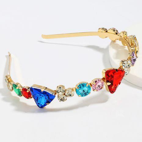 Taladro de color súper deslumbrante aleación de moda diadema de taladro de vidrio tachonado de diamantes al por mayor nihaojewelry NHJE246221's discount tags