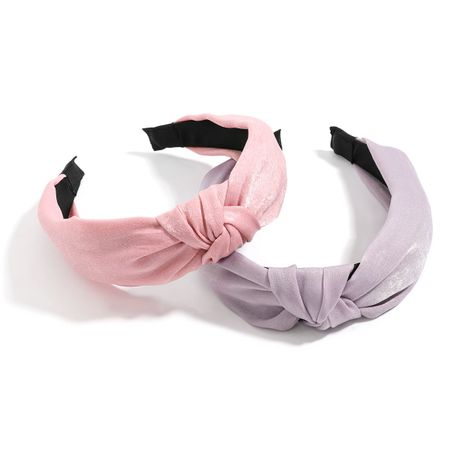Korean fashion solid color cloth fabric  women's wide-sided knotted bowknot headband  NHJE246222's discount tags