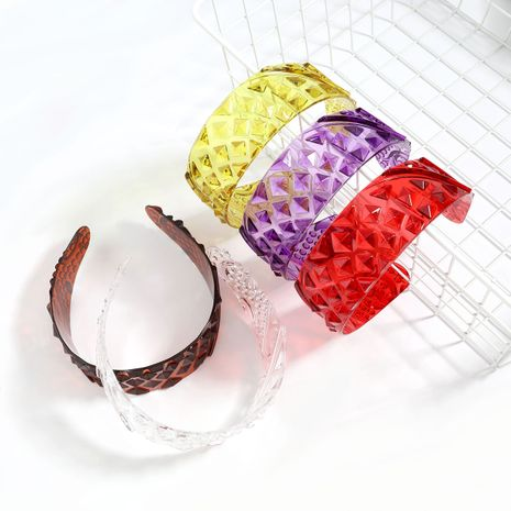 Fashion hot-selling simple convex texture acetate plate headband  NHJE246223's discount tags