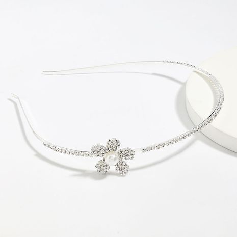 simple alloy diamond rhinestone flower hair band  wholesale nihaojewelry NHJE246224's discount tags
