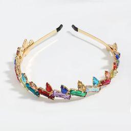 Taladro de color cuadrado en forma de gota de cristal de aleación de diamantes diadema con incrustaciones de diamantes al por mayor nihaojewelry NHJE246226