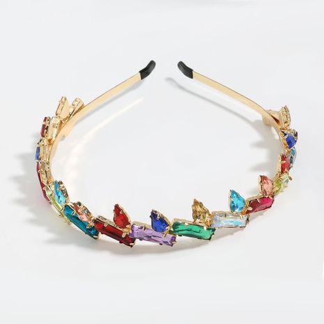 Taladro de color cuadrado en forma de gota de cristal de aleación de diamantes diadema con incrustaciones de diamantes al por mayor nihaojewelry NHJE246226's discount tags