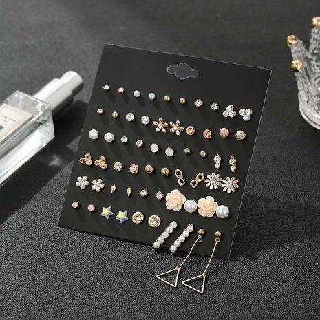 Ensemble de combinaison de boucles d'oreilles en alliage de métal sauvage triangle géométrique exagéré de mode pour les femmes NHSD246231's discount tags