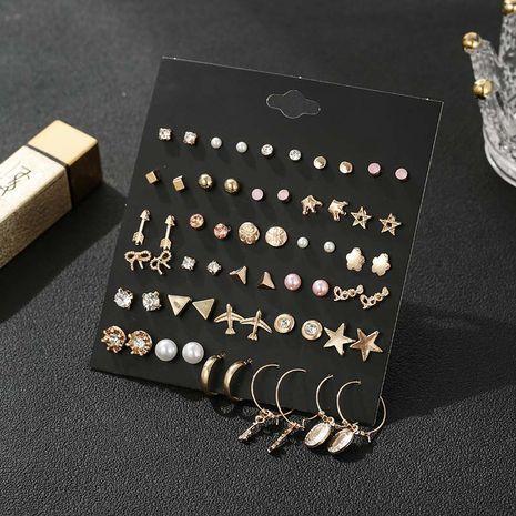 nouvelle étoile géométrique dorée créative 30 paires de boucles d'oreilles rétro simples en gros nihaojewelry NHSD246235's discount tags