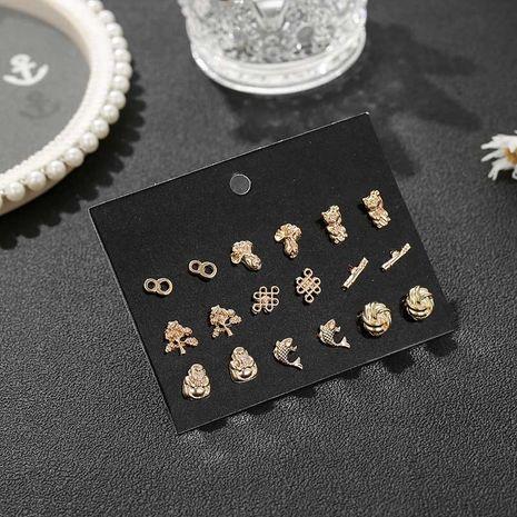 Mode nouvelle boucle d'oreille en alliage doré tout-allumette rétro simple pour femme NHSD246239's discount tags