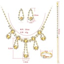 Fashion necklace earrings crystal diamond bridal jewelry set  NHDR246247