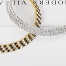 Fashion new bridal fashion alloy diamond necklace earrings twopiece  NHDR246248