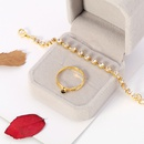 new bridal fashion alloy diamond necklace earrings threepiece set NHDR246249
