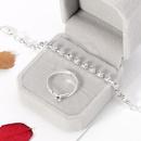 new bridal fashion alloy diamond earrings necklace threepiece set NHDR246250