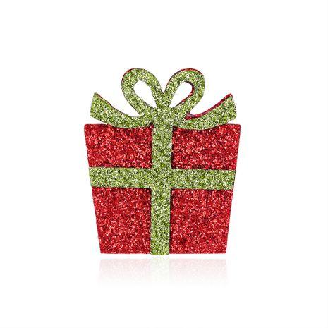 Nuevos adornos Venta caliente Caja de regalo de Navidad de dibujos animados Broche de fieltro al por mayor nihaojewelry NHDR246257's discount tags