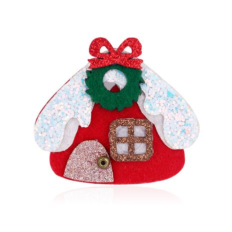 New fashion Christmas brooch cartoon Christmas house felt brooch wholesale nihaojewelry NHDR246260's discount tags