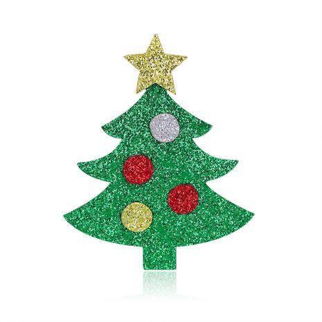 fashion Christmas ornaments fashion creative felt Christmas tree brooch wholesale NHDR246261's discount tags