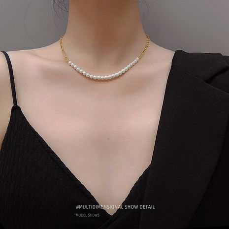 Fashion hot-saling pearl  exaggerated clavicle chain Necklace or bracelet  NHOK246277's discount tags