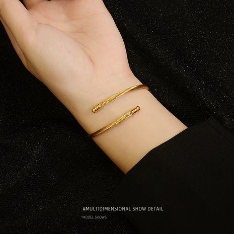 bracelet simple en acier dense à ouverture par petite ampoule NHOK246288's discount tags