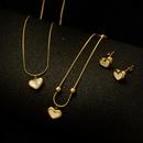 Fashion Womens Heart Shell Necklace earrings  for women NHOK246297