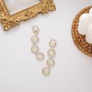 New Korean long paragraph flashing diamond circle butterfly tassel 925 silver needle stud alloy earrings NHMS246313