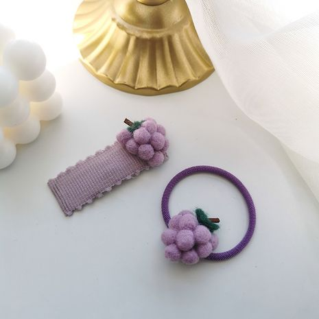 Summer color grape hairpin sweet  cute funny fruit headwear Wholesale nihaojewelry NHMS246314's discount tags