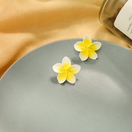 Fashion Light yellow flower simple petal s925 silver needle sweet alloy earrings  NHQD246330's discount tags