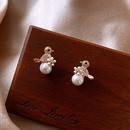 Little bird pearl silver needle new trendy  womens earrings NHXI246348