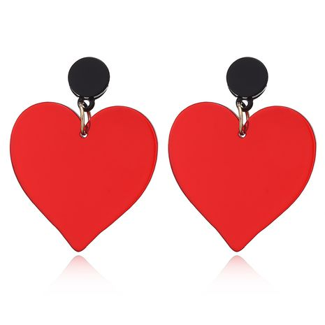 Korea new acrylic love cute fashion earrings for women wholesale NHXI246359's discount tags