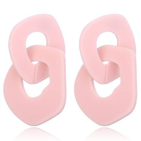New chain acrylic simple acetate plate fashion earrings wholesale NHXI246361's discount tags