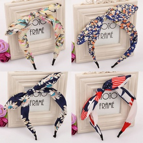 Floral Bowknot  Fashion Polka Dot Rabbit headband  wholesale  NHDP246008