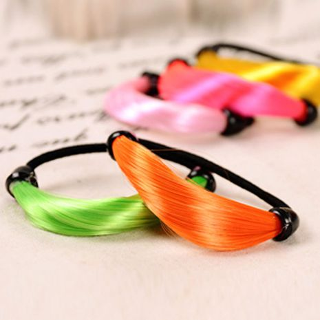 Fashion fluorescent color gradient wig rubber band hair rope  wholesale  NHDP246019's discount tags