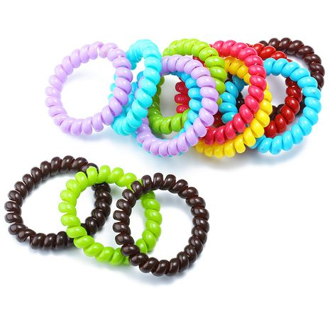 Candy color enlarge and widen hair ring Korean hair rope children's rubber band NHDP246025's discount tags