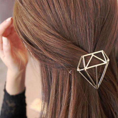 Korea's new headwear diamond hairpin triangle diamond side clip Wholesale nihaojewelry NHDP246035's discount tags