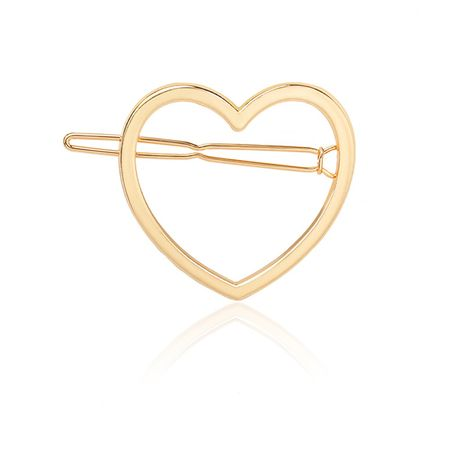 kawaii simple and cute peach heart hairpin alloy side clip hot sale Wholesale nihaojewelry NHDP246040's discount tags