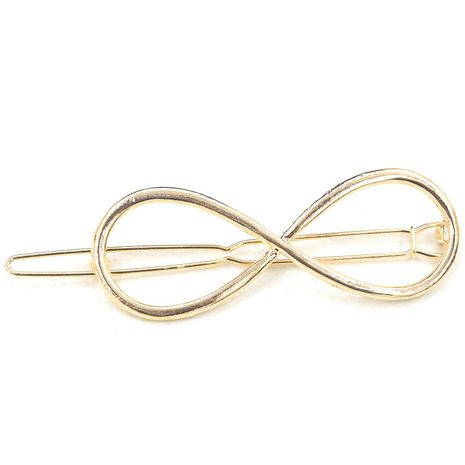 Korean fashion figure eight alloy hairpin bangs clip hairpin side clip wholesale NHDP246041's discount tags