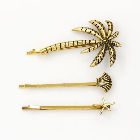 fashion summer style coconut tree shell starfish hairpin side clip three-piece set NHDP246048's discount tags