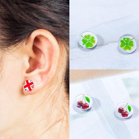 Imanes geométricos coreanos para hombres y aretes sin perforaciones para mujeres al por mayor NHDP246061's discount tags