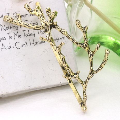 Korean retro one-word clip antler hairpin branch clip Wholesale nihaojewelry NHDP246069's discount tags