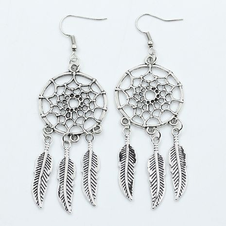 dream catcher feather popular new hot selling hollow earrings Wholesale nihaojewelry NHDP246075's discount tags