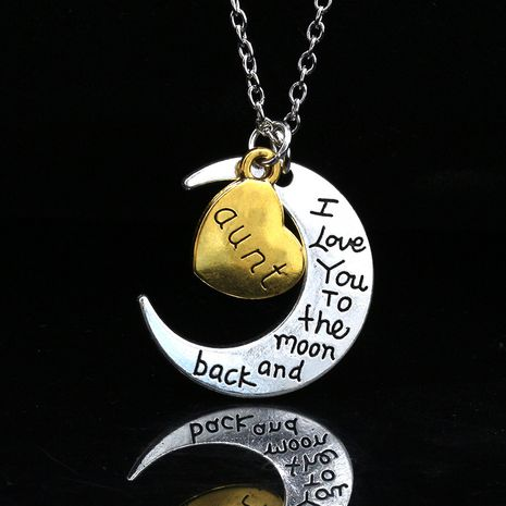new moon love letters fashion trend alloy necklace  wholesale NHDP246081's discount tags