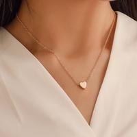 Corea melocotón corazón mini amor brillante colgante tridimensional amor cadena de clavícula para mujeres NHDP246085